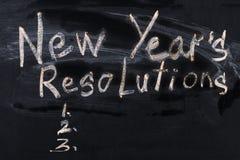 Разрешение ` s Нового Года слова написанное на классн классном Стоковое Фото