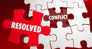 Разрешенная конфликтом часть головоломки разрешения боя бесплатная иллюстрация
