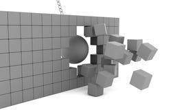 разрушать шарика Стоковое Изображение RF
