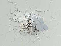 Разрушение белой бетонной стены бесплатная иллюстрация