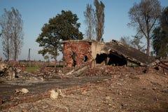 Разрушение газовых камер и крематориев, Освенцим стоковое фото