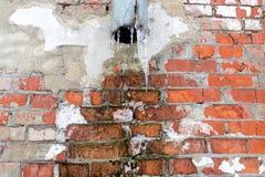 Разрушение кирпичного здания стоковые изображения rf
