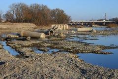 Разрушение русла реки реки Стоковое фото RF