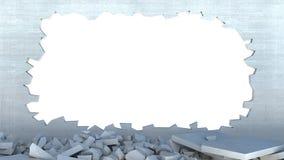 разрушение стены 3d бесплатная иллюстрация
