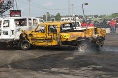 Разрушенная авария грузового пикапа Стоковое Изображение RF