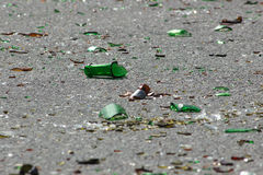 разрушенная бутылка Стоковая Фотография RF