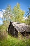 разрушенная дом старая стоковое изображение