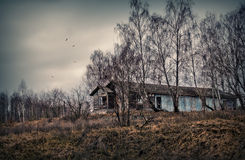разрушенная дом старая стоковые фото