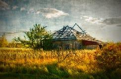 разрушенная дом старая стоковая фотография rf
