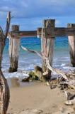 разрушенная старая пристань Стоковые Фотографии RF