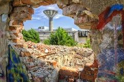 Разрушенная стена Стоковая Фотография