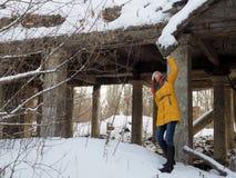 Разрушенное здание после войны в Donbass в Украине стоковые изображения