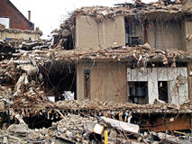 разрушенное здание Стоковая Фотография RF