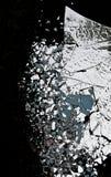 разрушенное зеркало стоковое изображение