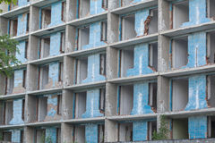 разрушенное здание Стоковая Фотография