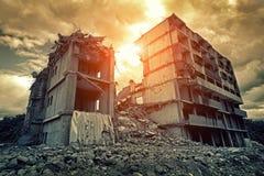 разрушенное здание Стоковые Фото