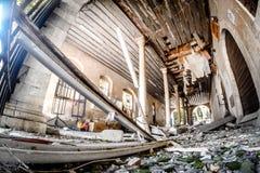 разрушенное здание Стоковые Изображения RF