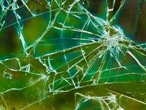 Разрушенное окно с красочной предпосылкой Стоковое Изображение RF