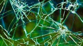 Разрушенное окно с красочной предпосылкой Стоковое фото RF