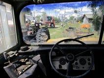 Разрушенное окно шины Стоковая Фотография