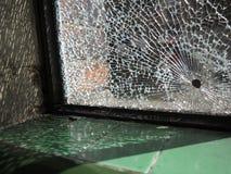 Разрушенное окно Стоковые Изображения