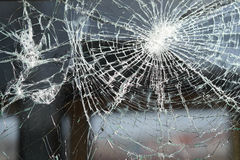Разрушенное окно Стоковое Изображение
