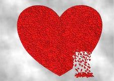 Разрушенное сердце Стоковое Изображение