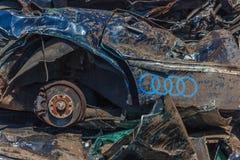 Разрушенное Audi Стоковое Фото