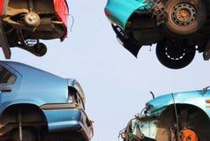 разрушенные автомобили Стоковая Фотография