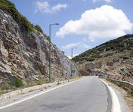 Разрушенные ветрянки, остров Крита Стоковое Фото