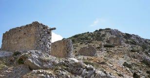 Разрушенные ветрянки, остров Крита Стоковая Фотография RF