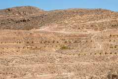 Разрушенные стены в пустыне Стоковые Фотографии RF
