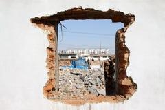 Разрушенные стены стоковая фотография rf