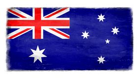Разрушенный австралийский флаг Стоковое фото RF