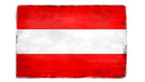 Разрушенный австрийский флаг Стоковые Изображения