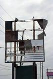 разрушенный знак Стоковое Фото
