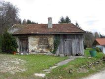 разрушенный дом Стоковая Фотография