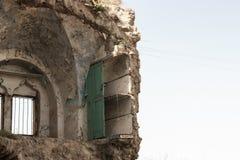 Разрушенный палестинский дом израильским воздухом сил обороны strikeDestroyed палестинские дом или дом израильскими силами оборон стоковые фото