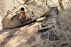 Разрушенный танк в южном Судане стоковое фото rf