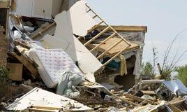 разрушенный торнадо дома стоковая фотография