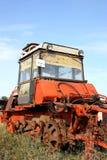 разрушенный трактор Стоковые Фотографии RF