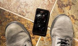 Разрушенный Smartphone Стоковое Изображение RF