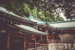 1958 разрушенным бомбометанием токио святыни фонариков японии реконструированным meiji было wwii Стоковое Изображение