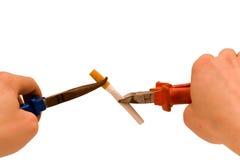 разрушьте курить привычек Стоковое Изображение
