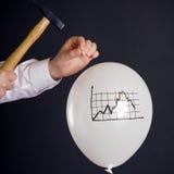 Разрывать финансовый пузырь стоковое изображение rf