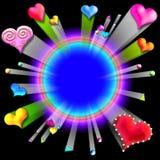 разрывать frame3 Валентайн влюбленности s Стоковое Изображение