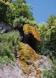Разрывы девушки водопада Стоковые Фотографии RF
