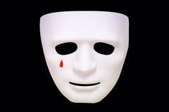 Разрывы на белой маске Стоковые Изображения