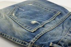 Разрыв карманн джинсов Стоковое Фото