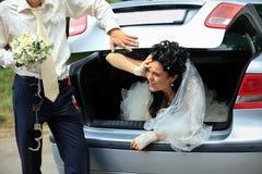 разрядка невесты плененная Стоковое фото RF